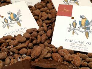 Schokolade und Kakaobohnen aus Ecuador