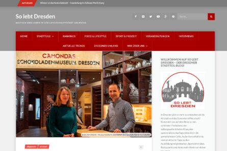 "CAMONDAS im Dresdner Stadtteil-Blog ""So lebt Dresden"""
