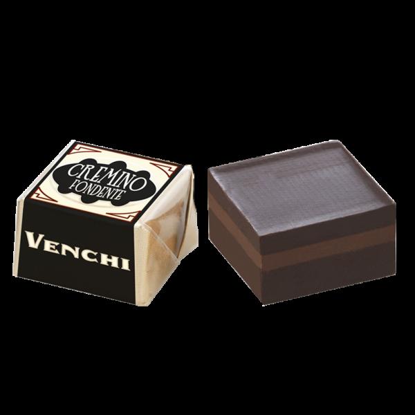 Venchi - Cremino dunkle dreischichtige Schokoladenpraline