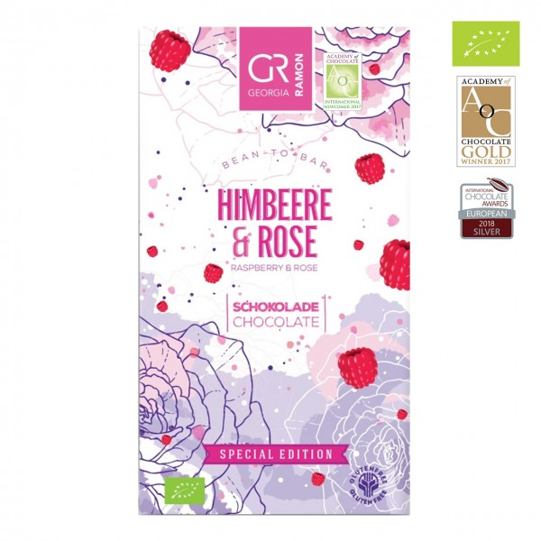Georgia Ramon - Bio Himbeer-Schokolade mit Rosenöl