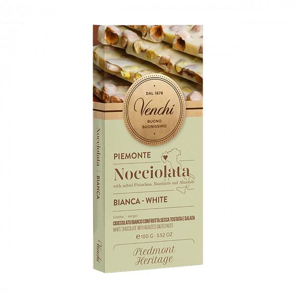 Venchi weiße Schokolade mit gesalzenen Nüssen
