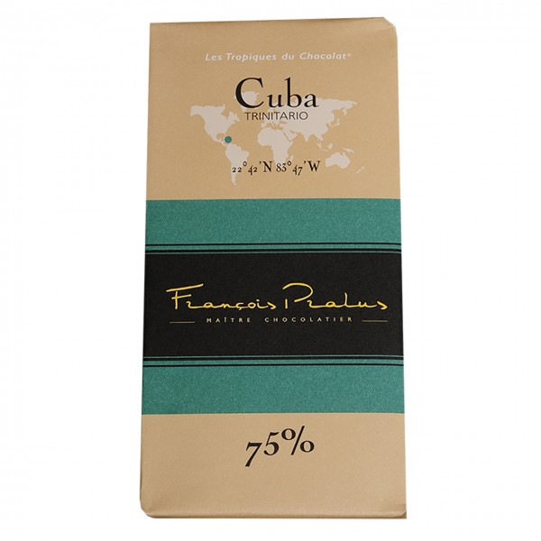 François Pralus - 75% Trinitario-Kakao Schokolade Kuba