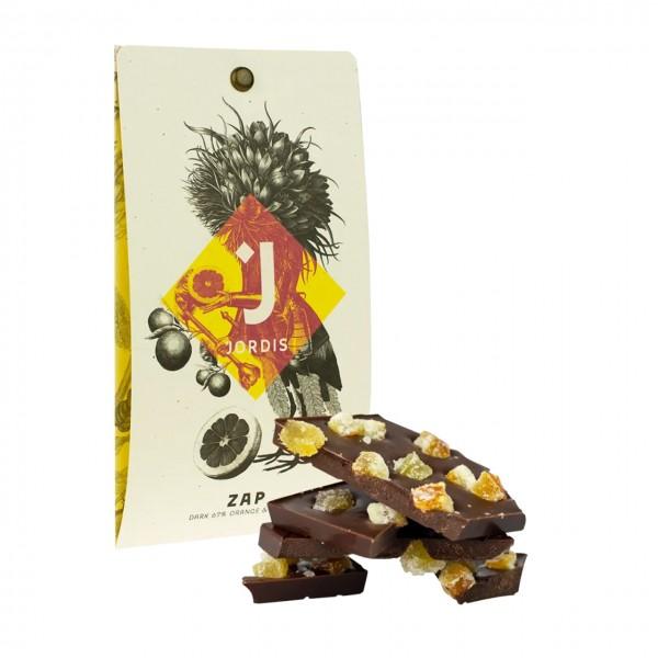 Jordis - Dunkle Schokolade mit Orange & Ingwer 50g