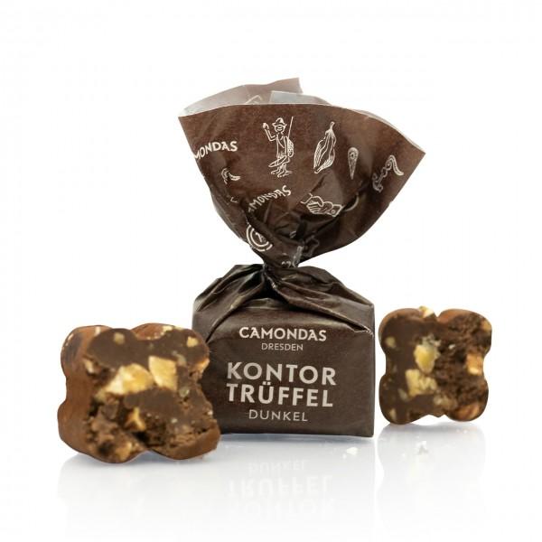 CAMONDAS - Kontor-Trüffel mit dunkler Schokolade und piemonter Haselnüssen