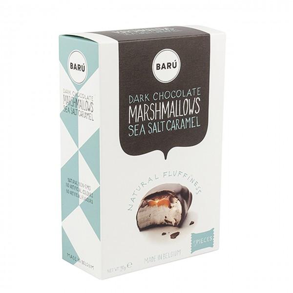 Barú Marshmallows 4er-Pack mit Fleur de Sel und Karamell in dunkler Schokolade