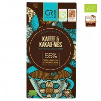 Georgia Ramon - Bio-Vollmilchschokolade mit Kaffee und Kakao-Nibs