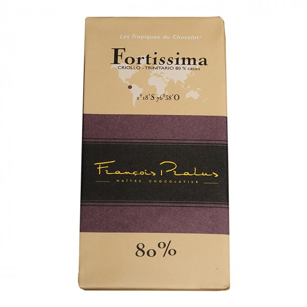 François Pralus - 80% Criollo-Kakao Schokolade Fortissima