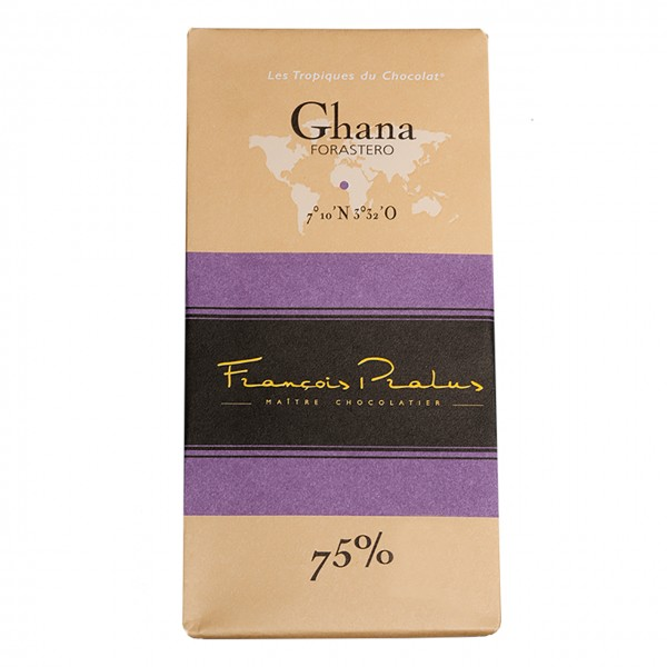 François Pralus - 75% Forastero-Kakao Schokolade Ghana