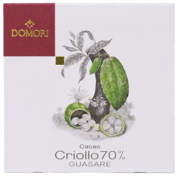 Domori - Dunkle Criollo-Tafel Guasare mit 70% Kakao