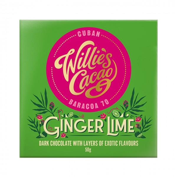 Willie`s Cacao - Dunkle Schokolade mit Ingwer & Limette