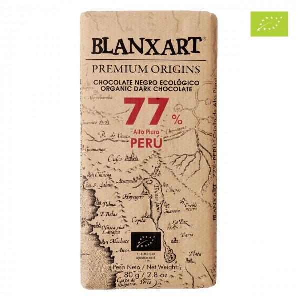 Blanxart Bio-Zartbitterschokolade Peru 77% Kakao Grand Cru Single Origin b