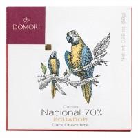 Domori - Dunkle Schokolade mit 70% Kakao aus Equador