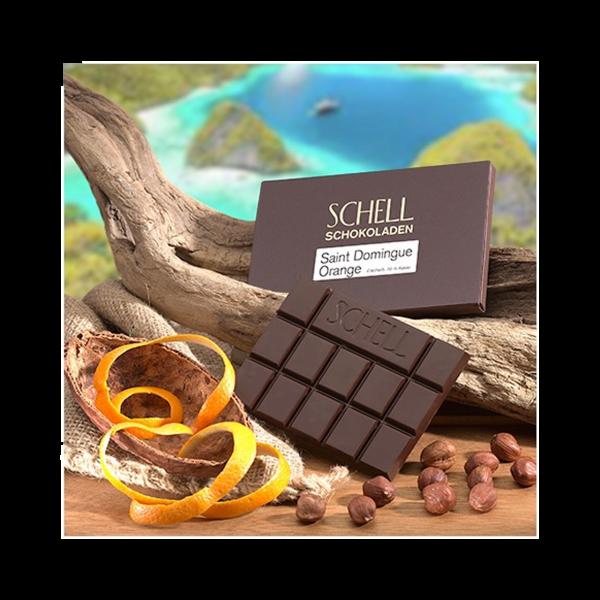 Schell - Dunkle Schokolade mit Orangenschale