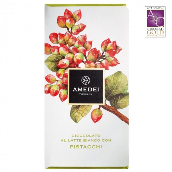 Amedei - Weiße Schokolade mit Pistazien