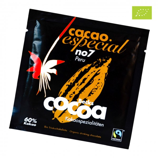 Becks Cocoa - No. 7 Peru 60% im Portionsbeutel