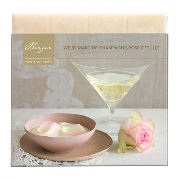 Berger - Weiße Marc de Champagne-Rose gefüllt