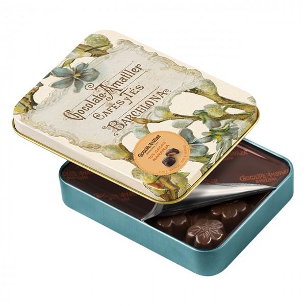 Amatller - Praline mit 70%iger dunkler Schokolade - Flores Orange