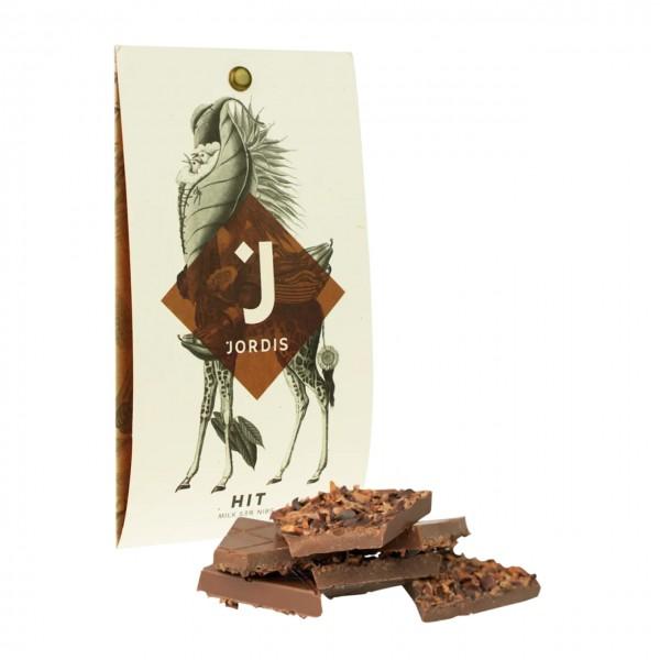 Jordis - Vollmilchschokolade mit Kakaonibs 50g
