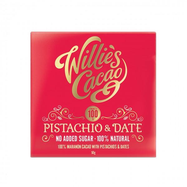 Willie`s Cacao - 100% mit Pistazien und Datteln