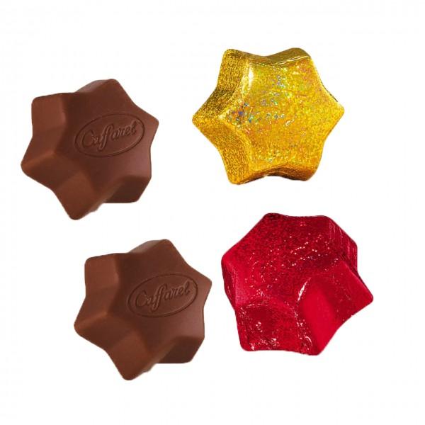 Caffarel - Glitzerstern aus Vollmilchschokolade