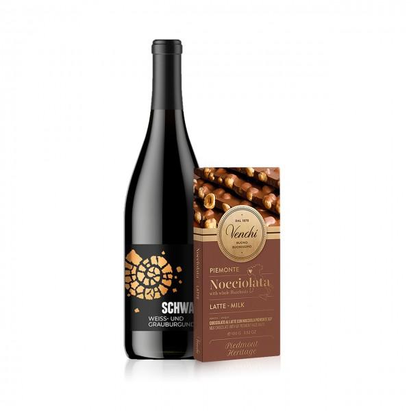 CAMONDAS - Schokolade & Wein: Grau- und Weißburgunder und Piemonte Nocciolata