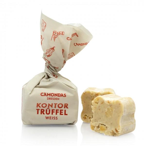 CAMONDAS - Kontor-Trüffel mit weißer Schokolade und piemonter Haselnüssen