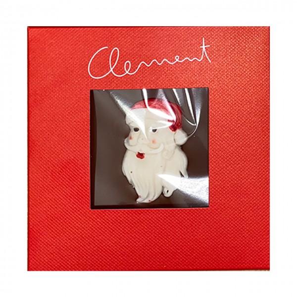 Clement Chococult - Weihnachtstafeln mit Weihnachtsmann-Marzipanmotiv
