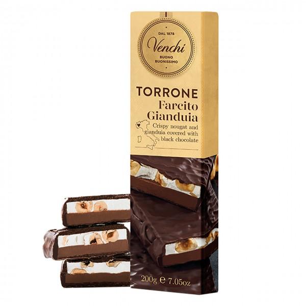 Venchi - Torrone farcito Gianduja ricoperto di Cioccolato