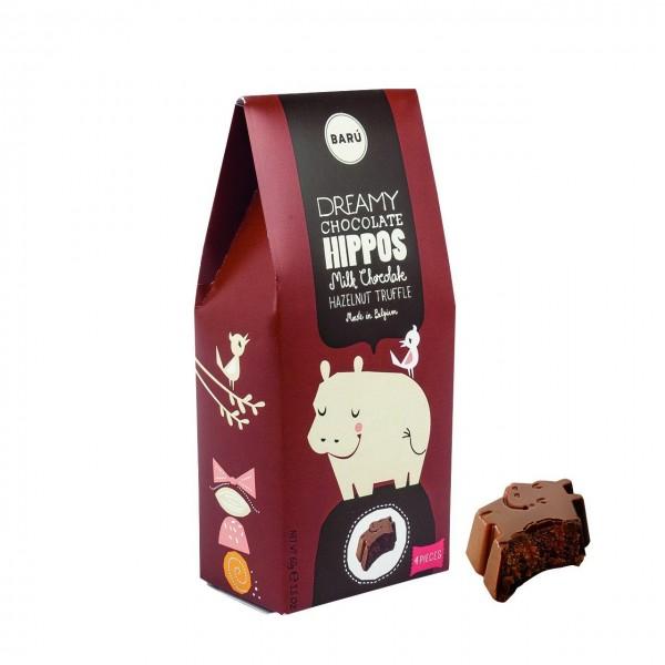 Baru - Hippos mit Haselnuss-Praline gefüllt