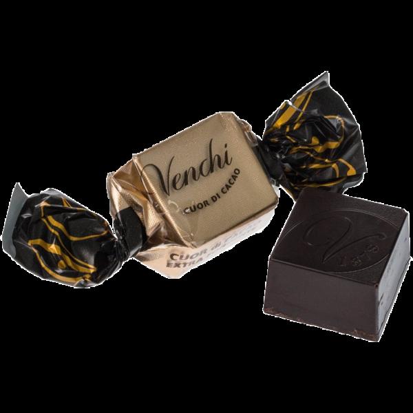 Venchi - Cubotto Schokoladenbonbon aus dunkler Schokolade