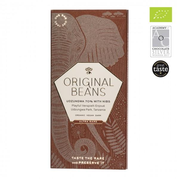 Original Beans - Udzungwa 70% Schokolade mit Nibs