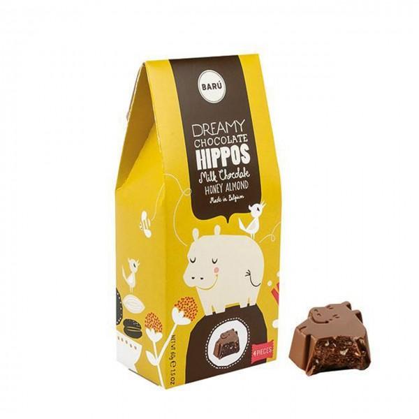 Baru - Hippos mit Honig-Mandel-Creme gefüllt
