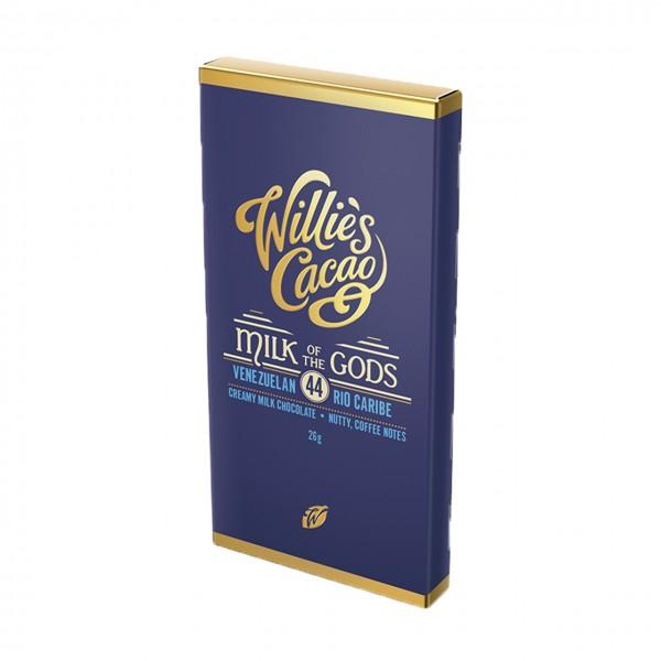 Willie`s Cacao - Göttlich reine Milchschokolade - Kleintafel