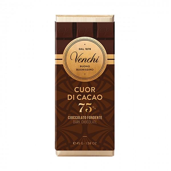 Venchi - Kleintafel Dunkle Schokolade mit 75% Kakao