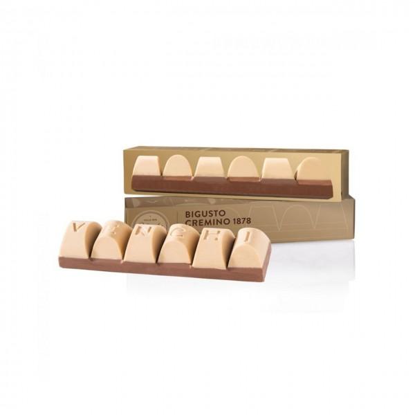 Venchi - Blockschokolade Bigusto Cremino mit Gianduja und weißer Schokolade
