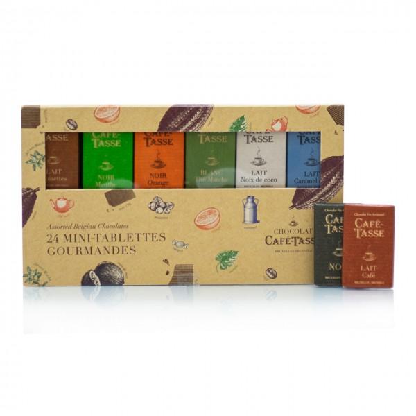 Café-Tasse - Entdeckerbox mit belgischer Schokolade