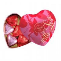 Venchi - Herzförmige Metalldose mit Schokoladenherzen
