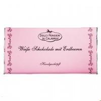 Dolci Pensieri - Handgeschöpfte weiße Schokolade mit Erdbeere