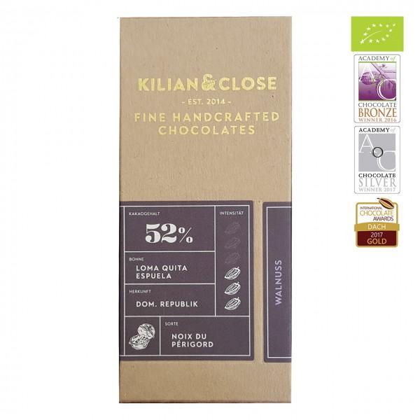 Kilian & Close - Bio Kokosmilch-Schokolade mit Walnüssen