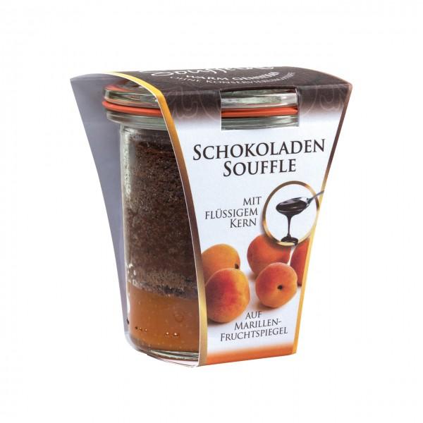 Soufflini Schokoladen-Soufflé 'Marille' im Weckglas