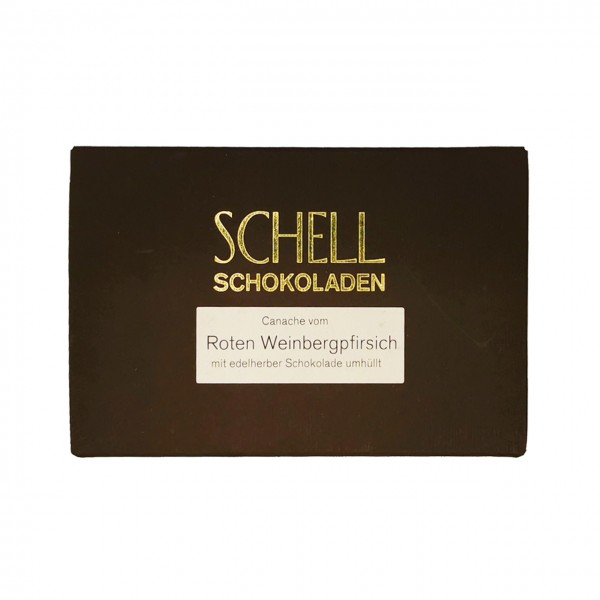 Schell - Gefüllte Schokolade mit rotem Weinbergpfirsich