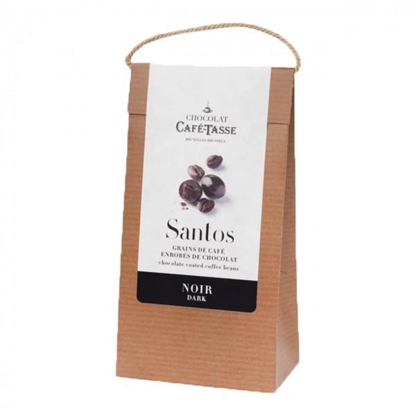 Café-Tasse - Santos Kaffeebohnen mit dunkler Schokolade umhüllt