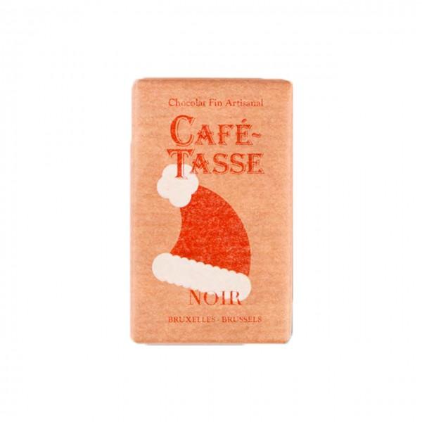 Café-Tasse - Mini-Täfelchen dunkle Schokolade