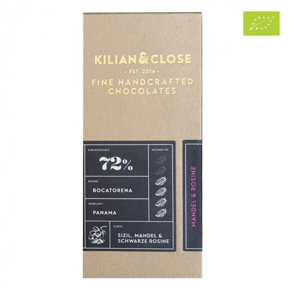Kilian & Close - Dunkle Schokolade mit Mandeln & Rosinen