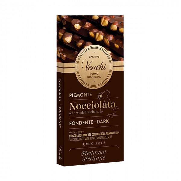Venchi Zartbitterschokolade mit Piemont-Haselnüssen