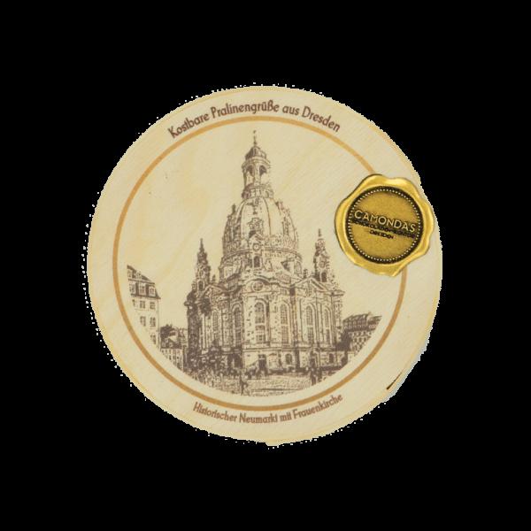 CAMONDAS - 6 Pralinen Holzbox Dresden
