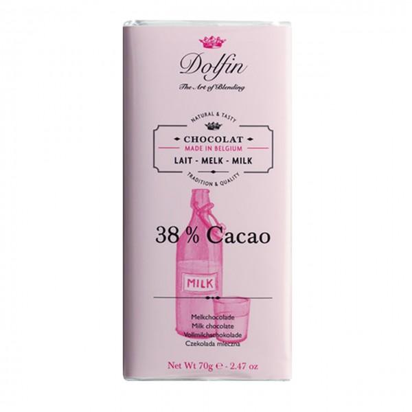 Dolfin - Vollmilch Schokolade 38% Kakao