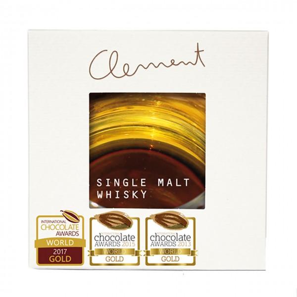Criollo-Schokolade mit Single Malt Whisky gefüllt