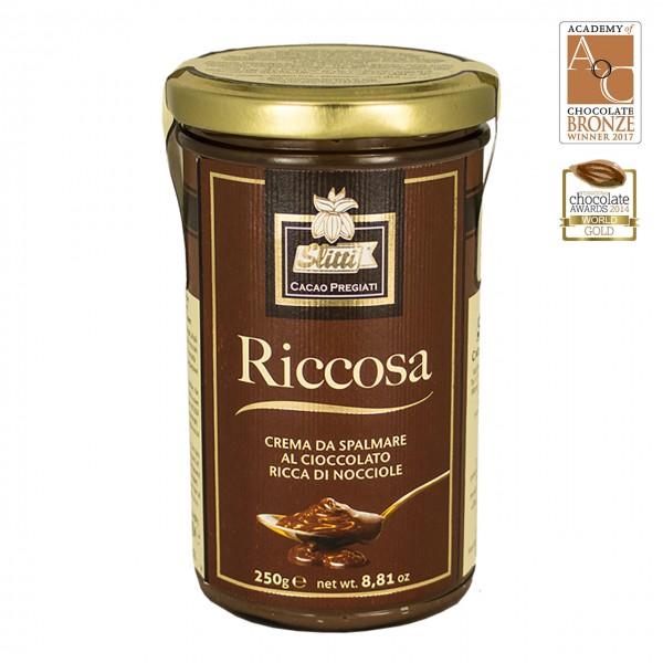 Slitti - Aufstrich aus Vollmilch-Schokolade und Haselnüssen
