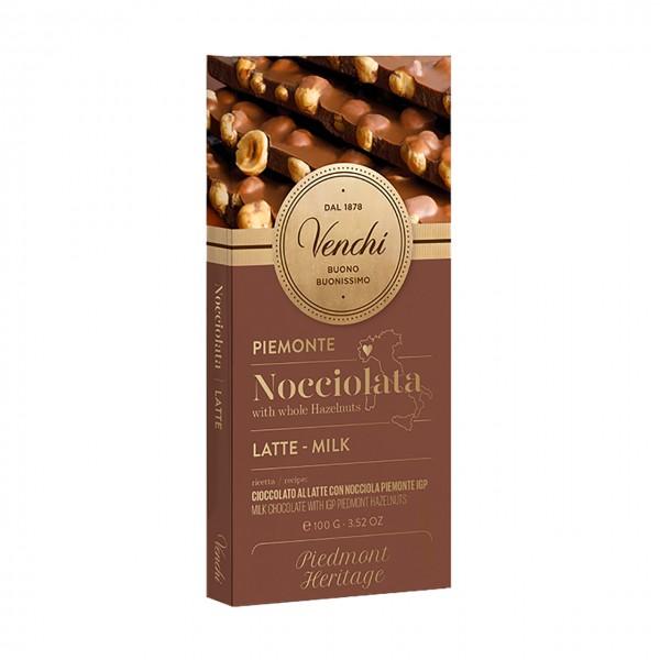 Venchi Vollmilchschokolade mit Piemont-Haselnüssen IGP